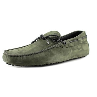 Tod's Lacetto My Colors New Gommini Men Square Toe Leather Green Loafer