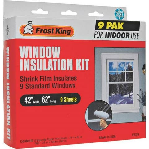 """Frost King V73/9H Indoor Window Insulation Kit, 42"""" x 62"""""""