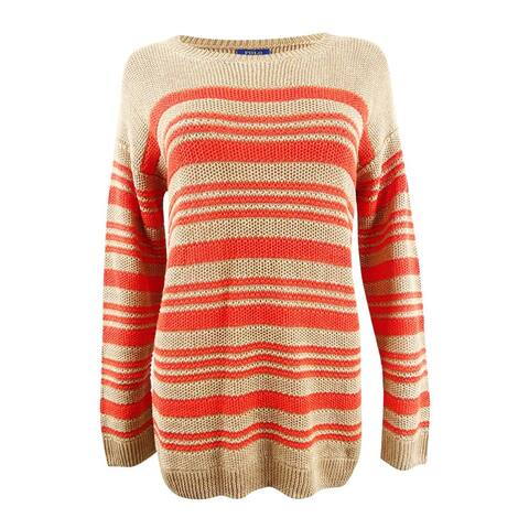 Polo Ralph Lauren Women's Striped Linen Sweater - M