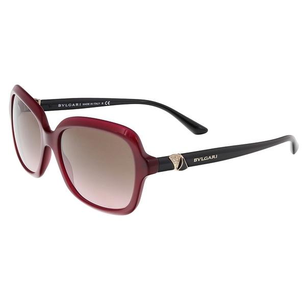 cf5f6538d5 Shop Bulgari BV8176B 5333 14 Magenta Square Sunglasses - 56-16-140 ...