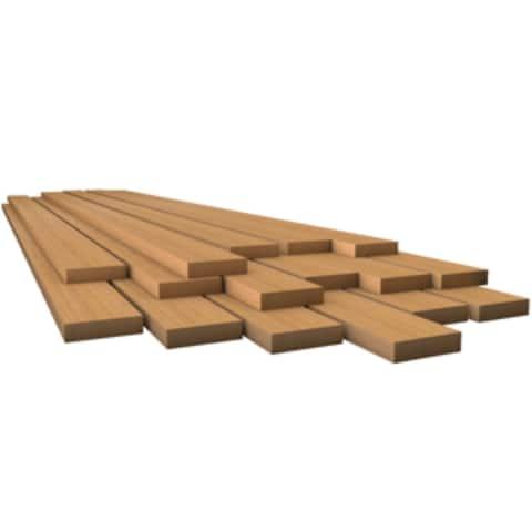 "30"" Teak Brown Marine Lumber 1/2"