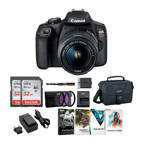 Canon EOS Rebel T7 DSLR Camera with EF-S 18-55mm IS II Lens Bundle