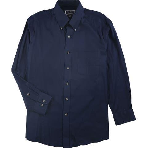 """Club Room Mens Regular Fit Button Up Dress Shirt, Blue, 16"""" Neck 32""""-33"""" Sleeve"""