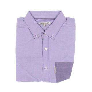 Marc Ecko Mens Pindot Contrast Trim Button-Down Shirt - XL
