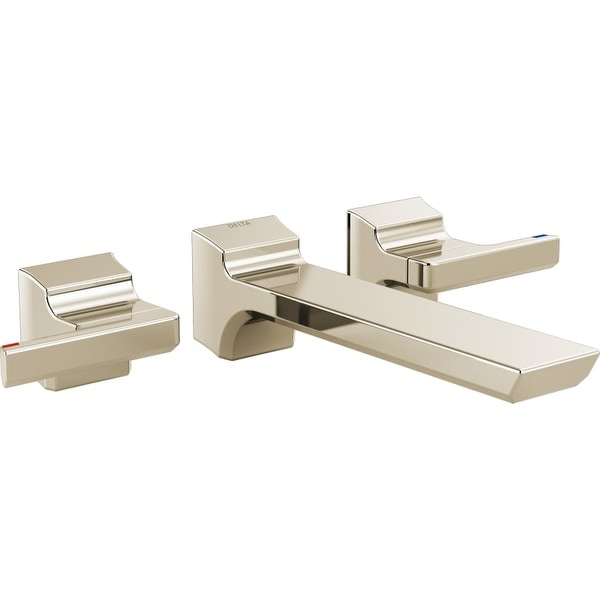 Delta T3599LF Pivotal 1.2 GPM Double Handle Wall Mounted Bathroom Faucet    Less