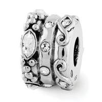 Sterling Silver Reflections Swarovski Elements Fancy Bali Bead (4mm Diameter Hole)