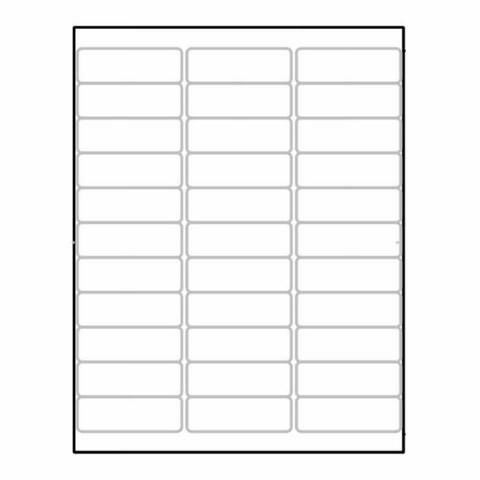 """Laser Label Sheet, 2-5/8"""" x 7/8"""" Laser Finish, Flat Sheet and Pre-Die Cut Labels (Box of 100) - 2-5/8 x 7/8 in"""