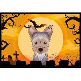Carolines Treasures BB1790JMAT Halloween Yorkie Puppy Indoor & Outdoor Mat 24 x 36 in.