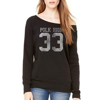 Married With Children Polk High 33 Women's Black Sweatshirt