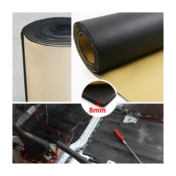 uxcell 315mil 8mm 32.29sqft Car Floor Tailgate Sound Insulation Deadener Mat 118 x 40