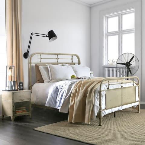 Furniture of America Ways Industrial Metal Panel Bed