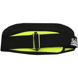 """Schiek Sports Model 2004 Nylon 4 3/4"""" Weight Lifting Belt - Neon Yellow"""