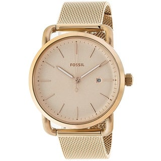Fossil Women's The Commuter Rose-Gold Stainless-Steel Fashion Watch