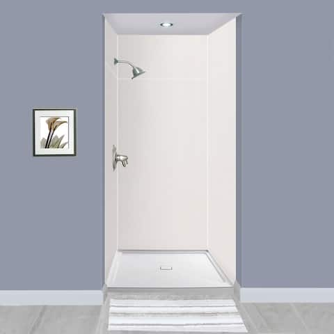 """Transolid Expressions 36-in X 36-in X 96-in Glue to Wall Shower Walls - 36"""" x 36"""" x 96"""" - 36"""" x 36"""" x 96"""""""