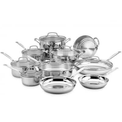 Cuisinart Stainless Steel 17-piece Cookware Access. Chefs Classic
