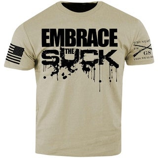 Grunt Style Embrace the Suck T-Shirt - Tan