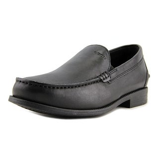 Geox U Damon Men  Round Toe Leather Black Loafer