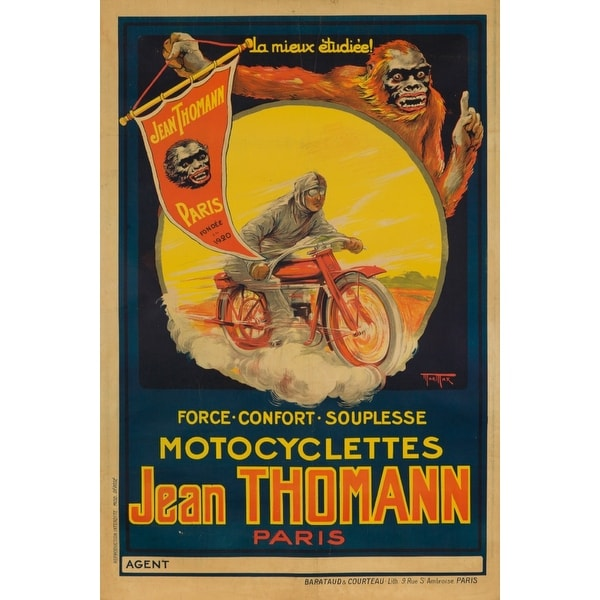 Jean Thomann Vintage Poster (artist: Mar Max) France c  1924 (Art Print -  Multiple Sizes Available) - 9 x 12 Art Print