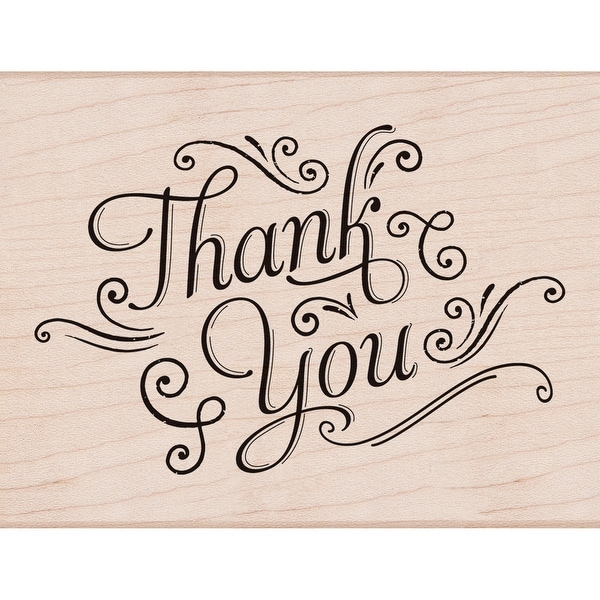 "Hero Arts Mounted Rubber Stamp 4.25""X3.25""-Thank You W/Flourishes"
