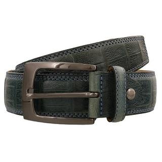 Renato Balestra MARINO MORO Teal Leather Mens Belt