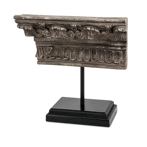 """IMAX Home 64559 Athena 14 1/2"""" Wide Resin Table Statue with Iron Base - Gray"""