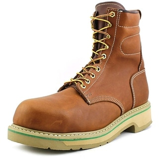 """HyTest by Wolverine Footrests 8"""" Comp Toe Men C Leather Brown Work Boot"""