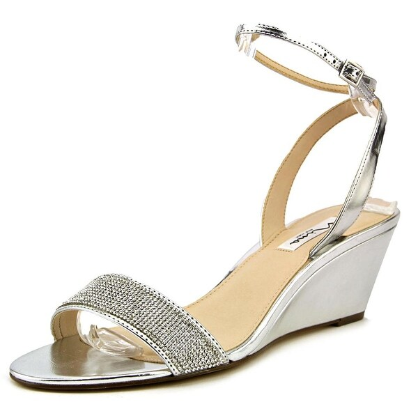 Nina Novia Women Open Toe Synthetic Silver Sandals