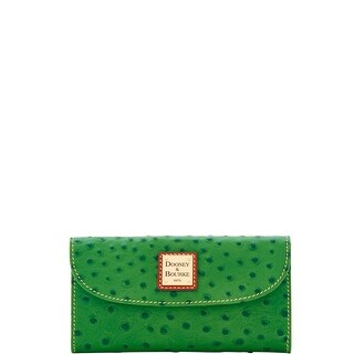Dooney & Bourke Ostrich Embossed Leather Continental Clutch Wallet (Introduced by Dooney & Bourke at $128 in Apr 2018)