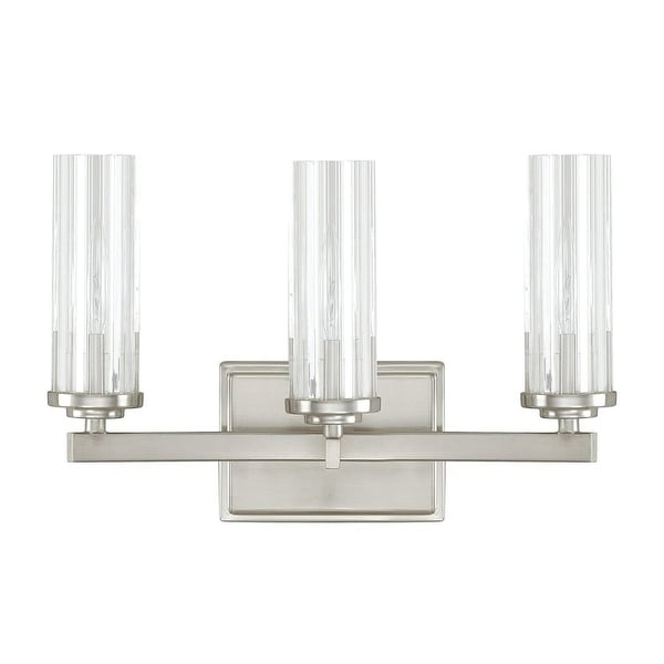 """Donny Osmond Home 8043-150 3-Light 14.5"""" Wide Bathroom Fixture from the Emery Collection - Brushed nickel"""