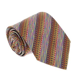 Missoni U3627 Red/Ochre/Pink Graphic 100% Silk Tie - 60-3