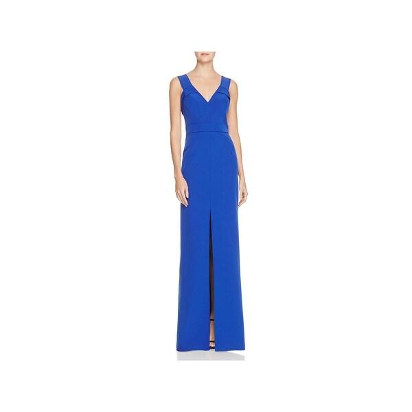 Aidan Mattox Womens Evening Dress Crepe Boning