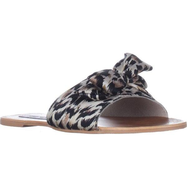 Steve Madden Alex Flat Slide Sandals, Leopard