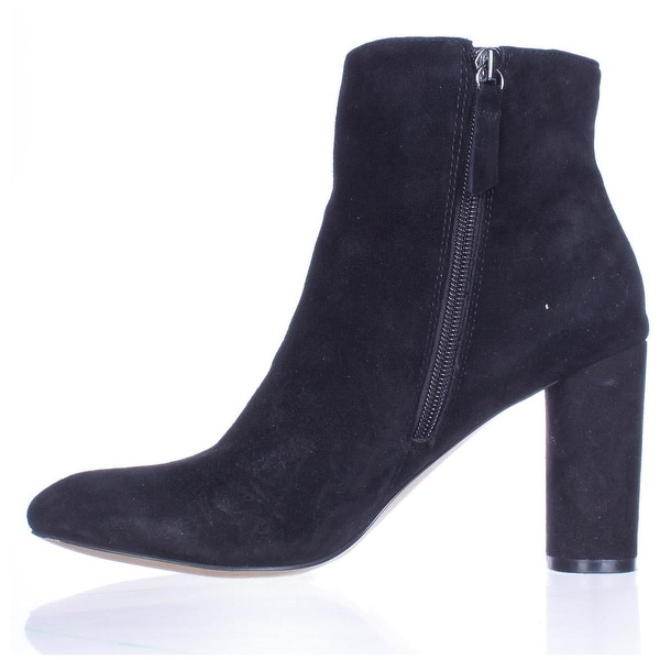 INC International Concepts Womens Taytee Leather Closed Toe Ankle Fashion Boots