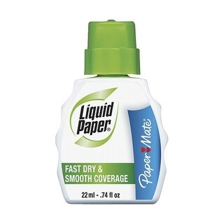 Paper Mate Liquid Paper Fast Dry Correction Fluid, Pack of 3
