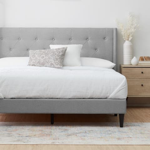 Brookside Bella Diamond Button Tufted Wingback Upholstered Bed
