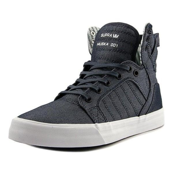 Supra Skytop Men Round Toe Canvas Blue Skate Shoe