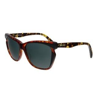 Just Cavalli JC738S 56A Havana Rectangular Sunglasses - No Size