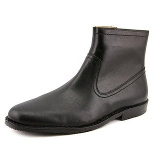 Sebago Metro Zip Men Round Toe Leather Black Boot