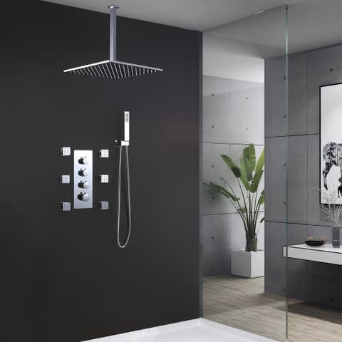 Thermostatic Complete Shower System With Embedded Valve - 13.18W in X8.66D in X3.15H in