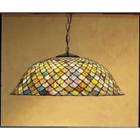 Meyda Tiffany 30455 Stained Glass / Tiffany Down Lighting Pendant from the Tiffany Fishscale Collection