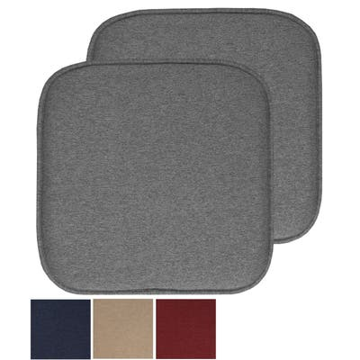 Charlotte Jacquard Cover Memory Foam Chair Pads