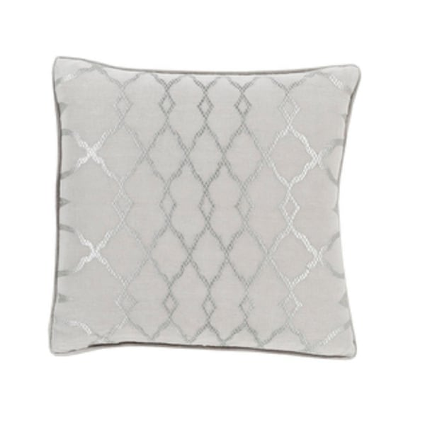 "22"" Diamond Elegance Dolphin and Wisp Gray Decorative Throw Pillow"