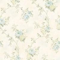 Brewster MEA79102 Chiswick Cream Hydrangea Trail Wallpaper - cream hydrangea