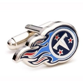 Silver Plated Tennessee Titans Cufflinks