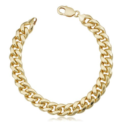14k Gold Filled 11.1 millimeter Miami Cuban Link Chain Bracelet (9 inches)