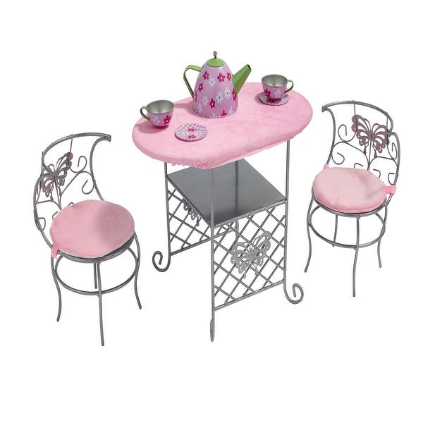 Badger Basket Tea Time Metal Doll Table And Chair Set With Accessories 14 X 7 75 X 10 25 Overstock 31932991