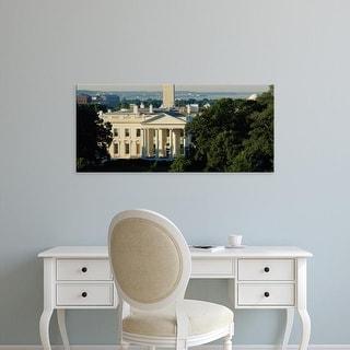 Easy Art Prints Panoramic Image 'High angle view of a government building, White House, Washington DC, USA' Canvas Art