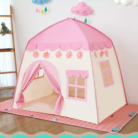 Princess Castle Play Tent Kids Playhouse forIndoor Outdoor w/Carry Bag