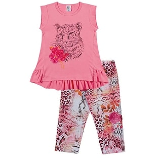 Girls Outfit Tee Shirt and Capri Leggings Set Pulla Bulla Sizes 2-10 Years