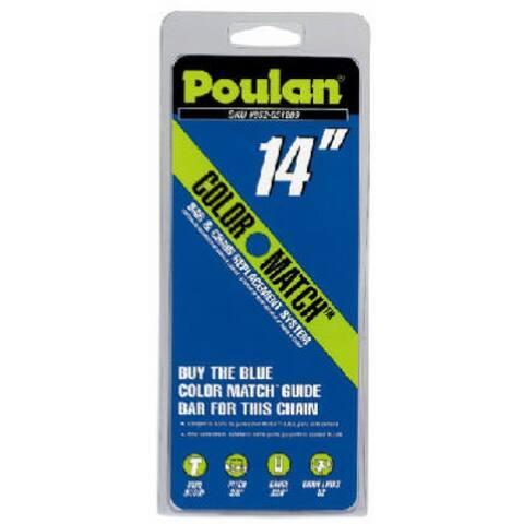 "Poulan Low Kick Back Replacement Saw Cutting Chain, 14"", 3/8"" Pitch"